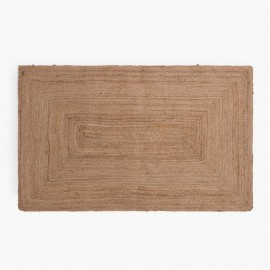Tapis Expression Minimale - Faience cuisine et tapis moutarde