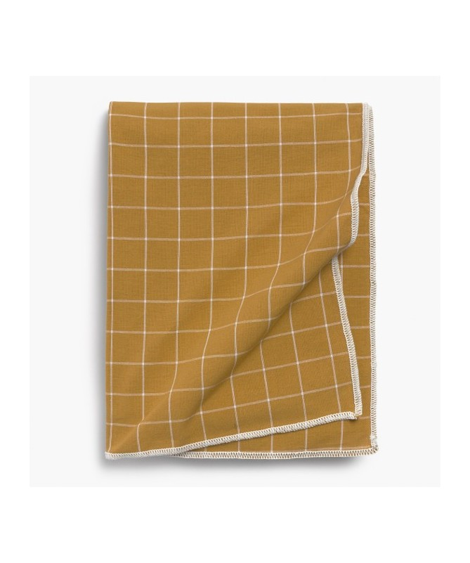 NAPPE RECTANGULAIRE MOUTARDE 160X200 CM