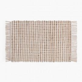 TAPIS RECTANGULAIRE EN JUTE ET CHINDI – 60x90 cm