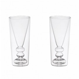 LOT DE DEUX VERRES A COCKTAIL