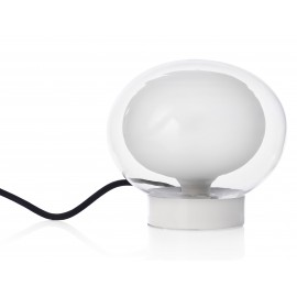 LAMPE DE TABLE GLOBE HAPPY PILL SOCLE BLANC